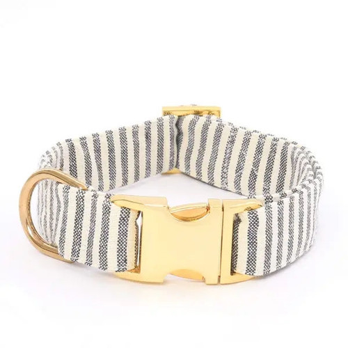 Stylish Dog Collar - Charcoal Stripe - XS - 8-12
