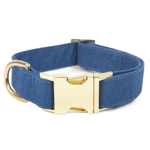 Stylish Dog Collar - Denim - Large - 18-26