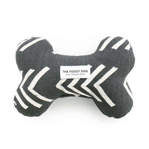 Eco Friendly Dog Toys - Squeaky Bone - Grey