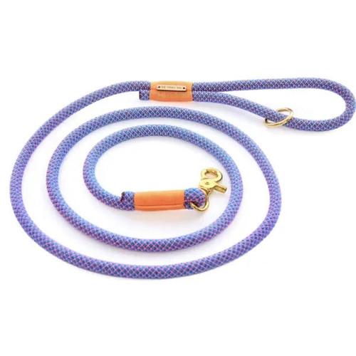 Rope Dog Leash - Neon Purple