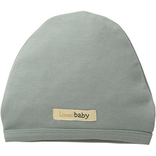 Organic Cotton Baby Cap- Seafoam, 0-3m