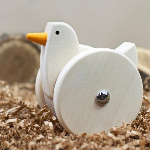 Wobbling Chicken Push Pull Toy