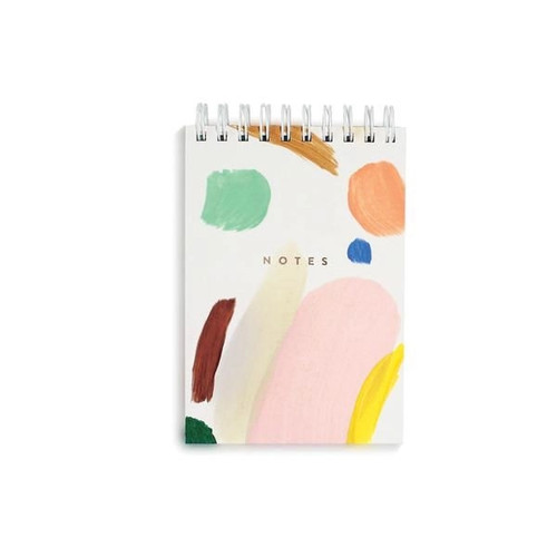 Hand Painted Mini Canvas Notebook - Color Party