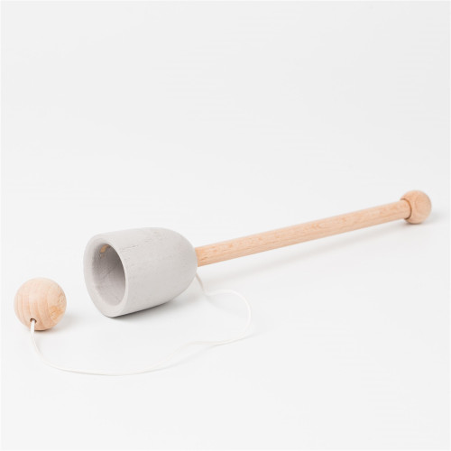 Wooden Cup and Ball Game - Grey