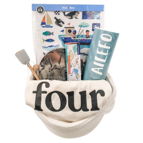 Birthday Gift Basket for Kids - 4 is Fun