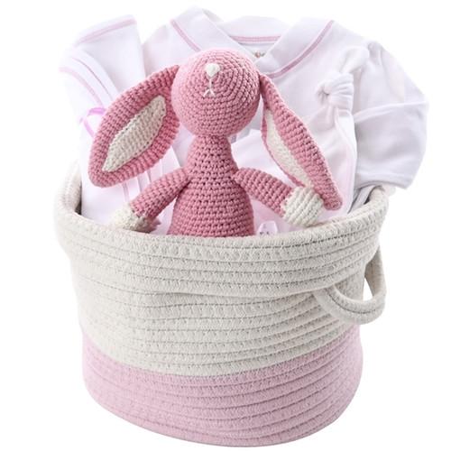 Organic Baby Gift Basket - Signature Pink