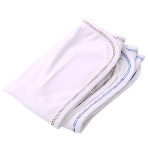 Organic Burp Cloth - Set of Two - Blue/Brown