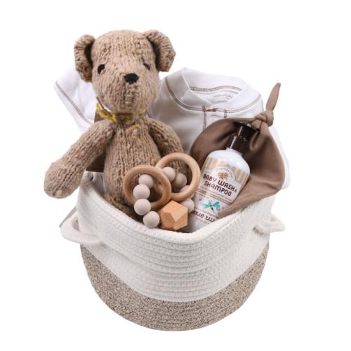Gender Neutral Baby Gift Basket - Bear-y Sweet