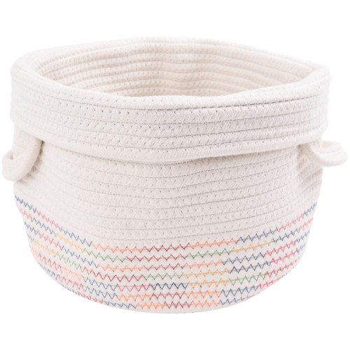 Make Your Own Gift Basket - Cotton Rope Basket Rainbow