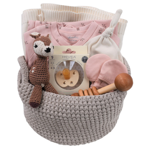 New Baby Girl Gift Basket - Fawned Over
