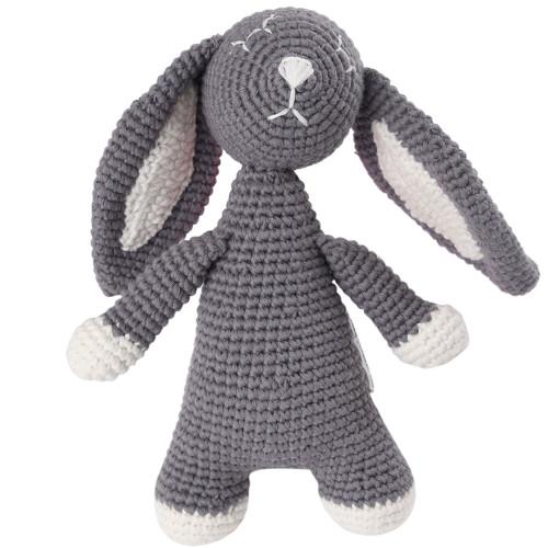 Organic Baby Bunny Toy Fair Trade - Grey