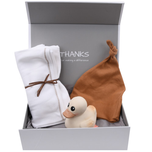 Gender Neutral Natural Baby Gift Box - Lucky Ducky