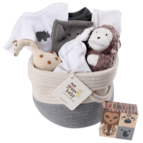Baby Gift Baskets - Jungle Theme - On Safari
