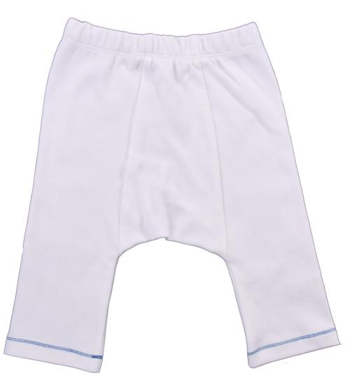 Organic Baby Pants - Blue Stitch - 3-6m