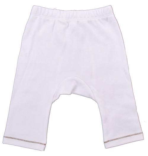 Organic Baby Pants - Brown Stitch - Nb-3m