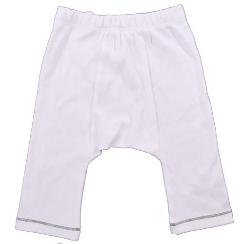 Organic Baby Pants - Grey Stitch - 3-6m