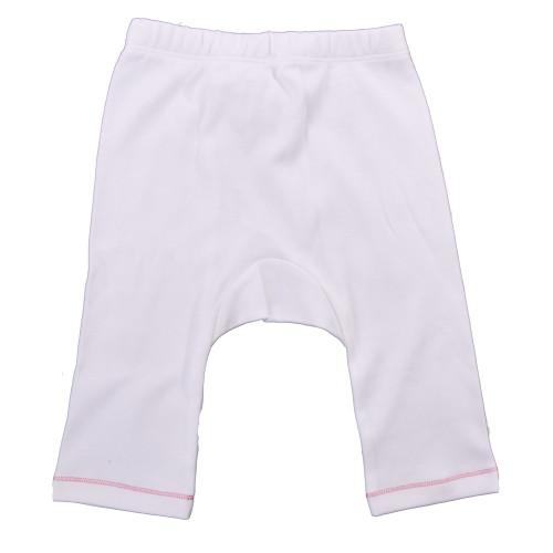 Organic Baby Pants - Pink Stitch - 3-6m