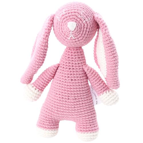 Organic Baby Bunny Toy Fair Trade - Pink