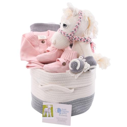 Baby Gift Basket - Organic Pretty Pony