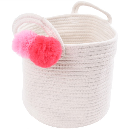 Make Your Own Gift Basket - Cotton Rope Pink Pom Pom