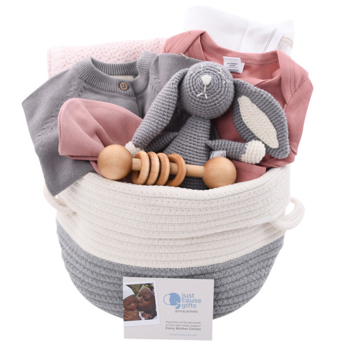 High End Baby Gifts - Rose & Grey