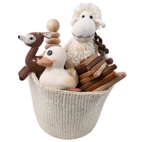 Eco-friendly Baby Toys Gift Basket - Stack Time