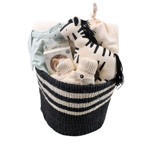 Zebra Baby Gift Basket - Stand Out
