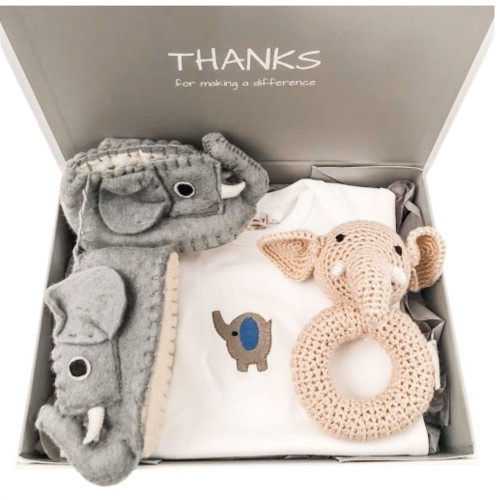 Save the Elephants Baby Gift - Blue