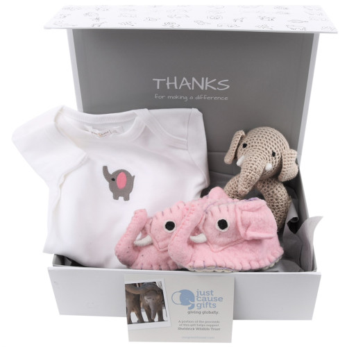 Save the Elephants Baby Gift - Pink