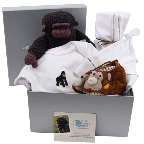 Organic Baby Gift Basket that Gives Back - Save the Gorillas