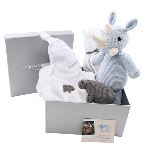 Save the Rhinos - High End Baby Gift Box