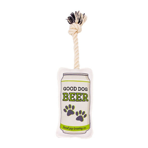 Funny Dog Toys - Rope Beer Can