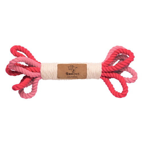 Dog's Rope Toy - Pink Loops