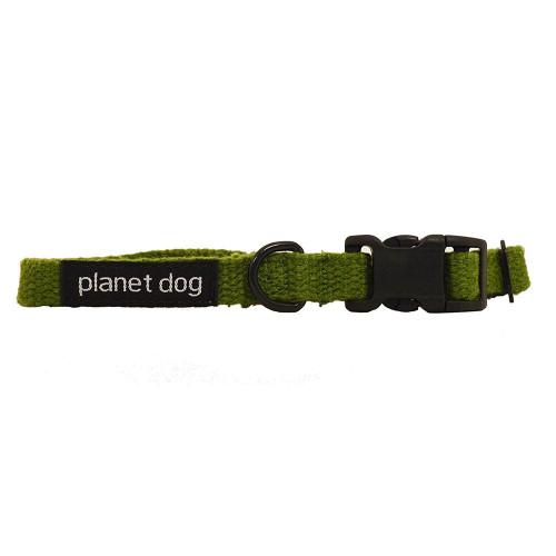 """Hemp Dog Collar - Green - Small (9-13"""")"""