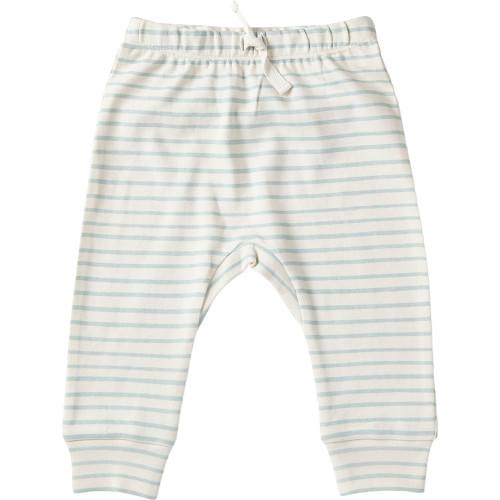 Organic Baby Harem Pants - Green Stripe, 0-3m