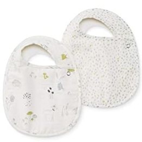 Organic Baby Bibs - Magical Forest Set of 2