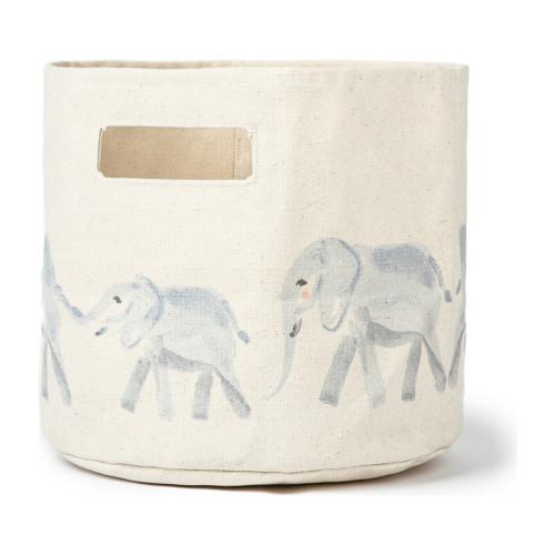 "Canvas Storage Bins - Elephant - Pint (9"" x 10"")"