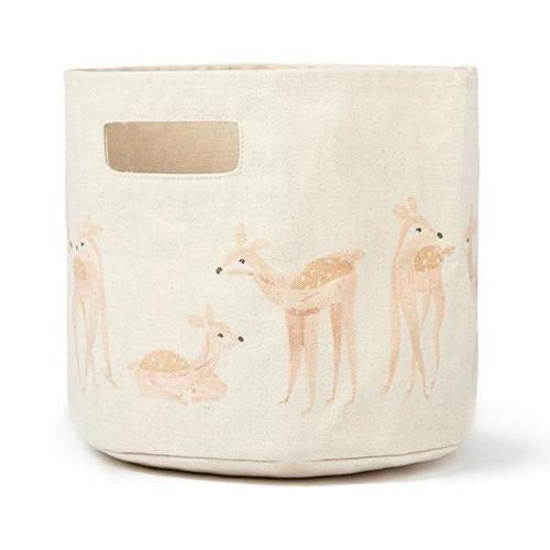"Canvas Storage Bins - Deer - Pint (9"" x 10"")"