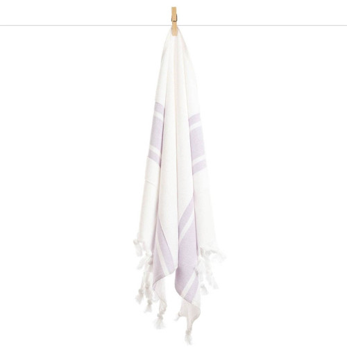 Double Faced Turkish Towel - Lilac Stripe
