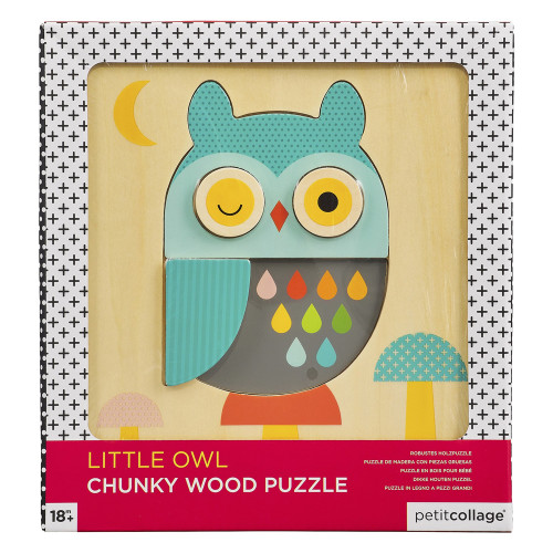 Chunky Wooden Toddler Puzzle - Owl