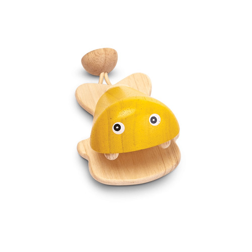 Fish Castanet Toy - Yellow