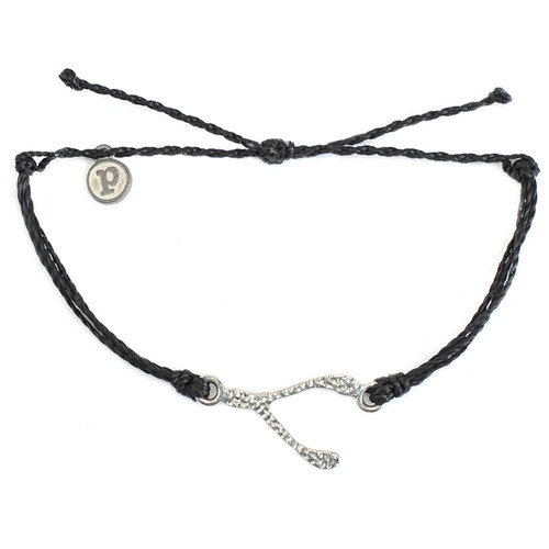 Puravida Bracelet - Hammered Wishbone Black