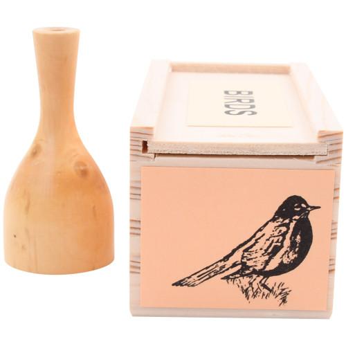 Wooden Bird Whistle - American Robin