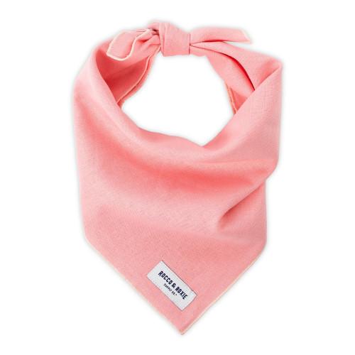 "Dog Bandana - Pink Linen, Medium (15-17"")"