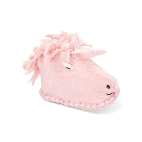 Unicorn Baby Booties - Wool Felt