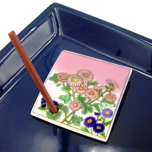 Incense Holder - Chrysanthemum - Mini Tile 1 1/2