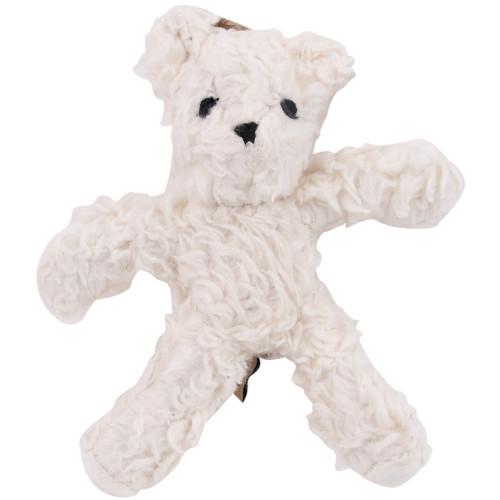 Organic Dog Toy - White Bear
