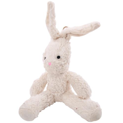 Organic Dog Toy - White Bunny