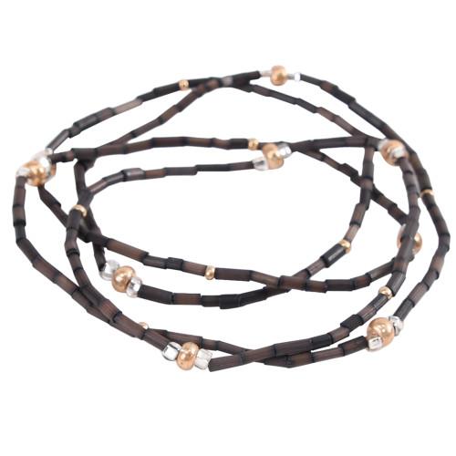 ZuluGrass Bracelet or Necklace - Single - Dark Chocolate Brown
