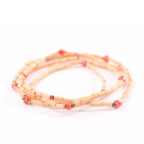 ZuluGrass Bracelet Single Strand - Light Orange